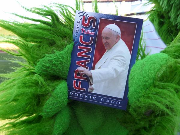 Phillies put the Pope on a baseballcard