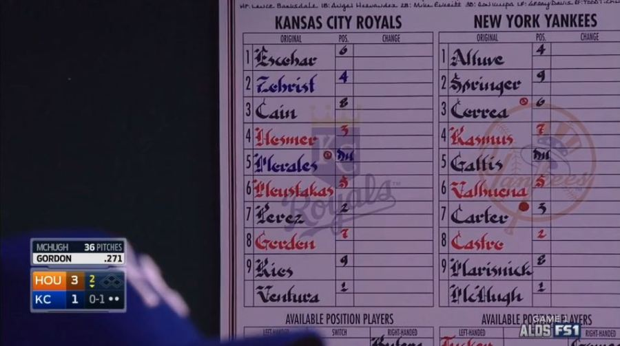I bet the Royals post the right team on the lineup cardtoday