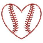 baseball stitched heart