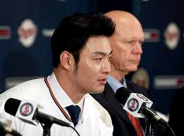 Park Byung-ho introduced by Twins