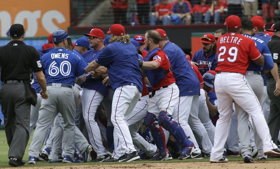 Updated: Texas And Toronto Forget About Game, Brawl Instead